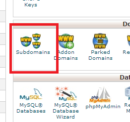 subdomain at cpanel