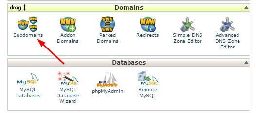 Cpanel add domain