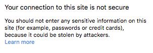 SSL not secure