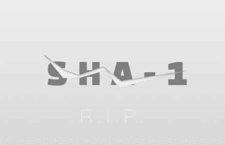 sha-1 αλγοριθμος εσπασε